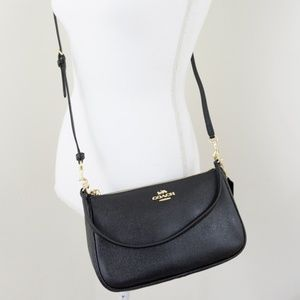 New Coach Top Handle Pouch Crossbody Bag Leather